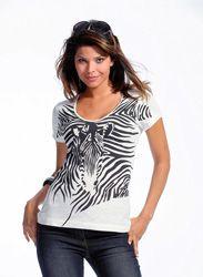 Camiseta mujer estampada animal print