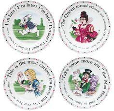 Alice in Wonderland Dessert Plates