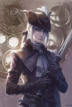 Here is a cute Lady Maria Anime wallpaper. she is from bloodborne