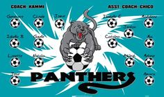 Panthers-45302  digitally printed vinyl soccer sports team banner. Made in the USA and shipped fast by BannersUSA. www.bannersusa.com
