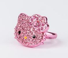Hello Kitty Die-Cut Ring: Metallic Pink