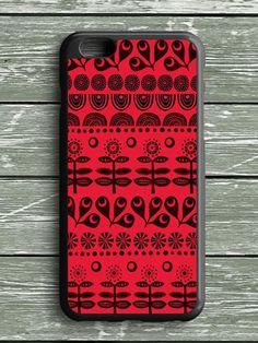 Black Red Pattern Art iPhone 6S Plus Case
