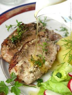 schab pieczony w ziołach, pork in herb butter #schab #pork