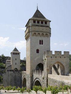 Cahors (46. Lot) - Valentré Bridge / Valentré Brücke / Pont Valentré