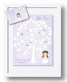 Communion Guest Book 11x14 Sign-In Tree by KreationsbyMarilyn