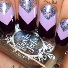 nail art videos * nail art & nail art designs & nail art videos & nail art designs for winter & nail art winter & nail art designs easy & nail art summer & nail art diy Nail Art Diy, Diy Nails, Cute Nails, Pretty Nails, Nail Art Designs Videos, Nail Art Videos, Cute Nail Designs, Nail Art Violet, Purple Nail Art