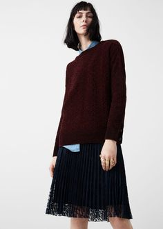 Velvet sweater - Cardigans and sweaters for Woman | MANGO USA