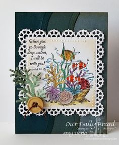 Our Daily Bread Designs Stamp set: Deep Waters, Layered Lacy Squares, Leafy Edged Borders, Fancy Foliage