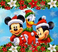Christmas - Disney - Mickey & Minnie Mouse & Donald Duck