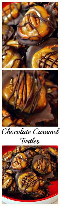 Chocolate Caramel Turtles - The salty crunch of pretzels and pecans with the soft caramel and creamy milk chocolate is divine!
