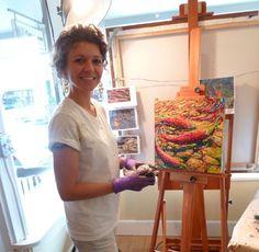 iris scott finger painting   iris with finished painting