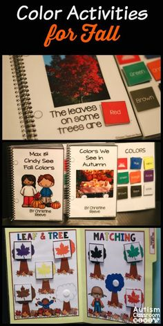 Just what you need to practice colors with a fall theme for early learners and special education. Interactive books, file folders, mini-books, and print and go worksheets. $