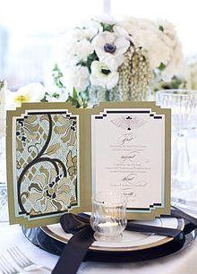 Elegant Menu - http://www.whitesatinweddingshow.com/elite-weddings-in-france.html