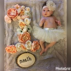 My baby girl is one month old. going for vintage floral theme. One Month Old Baby, Baby Month By Month, Baby Chloe, Milestone Pictures, Monthly Baby Photos, Baby Girl Pictures, Newborn Baby Photography, Baby Shower, Floral Theme