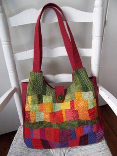 patchwork handbag/tote bag by Sakamaliss on Etsy, €55.00