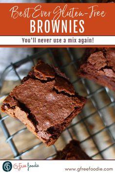 Dairy Free Chocolate Chips, Chocolate Flavors, Chocolate Recipes, Divine Chocolate, Best Gluten Free Brownies Recipe, Best Gluten Free Recipes, Easy No Bake Desserts, Gluten Free Desserts, Dessert Recipes