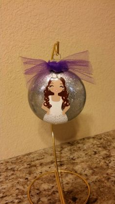 Items similar to Hand painted/ Personalized/ Custom/ Bridesmaid/ Maid of honor/ Jr. Bridesmaid or flowers Girl glass christmas ornament on Etsy Glass Christmas Ornaments, Christmas Bulbs, Maid Of Honor, All Design, Jr, The Creator, Hand Painted, Bridesmaid, Bridal