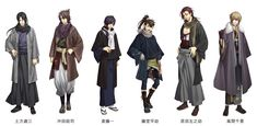 "Character pop store limited illustration! Characters of ""Hakuoki Shinko"" appear in ""Winter attire""! 