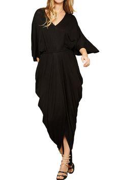 Greek Goddess Empire Waist Draped Dress