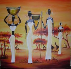 We think we got the perfect ideas for you, here! Africa Painting, Oil Painting Abstract, Woman Painting, Black Girl Art, Black Women Art, Black Art, Style Africain, Art Africain, African American Artwork