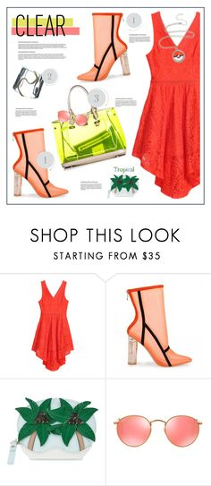 """Clear the air"" by anne-irene ❤ liked on Polyvore featuring Kate Spade, Ray-Ban, clear and Seethru"