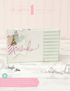 Heidi Swapp e•idea book featuring exclusive project starters & accessories available in JoAnn craft stores.