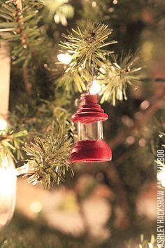 Camping and Hiking Themed Ornaments - love this cute little lantern!