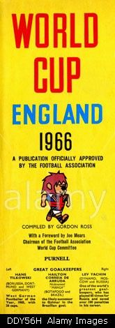 Football World Cup Publication, Willie the England mascot, 1966. Stock Photo