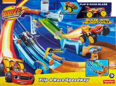Amazon.com: Fisher-Price Nickelodeon Blaze and the Monster Machines Flip & Race Speedway: Toys & Games