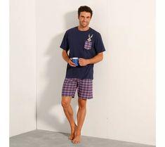 Pyžamo so šortkami Bugs Bunny Bugs Bunny, Looney Tunes, Patterned Shorts, T Shirt, Pajamas, Sporty, Men, Shopping, Style