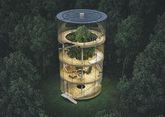 Esta casa na árvore é um sonho de infância em realidade