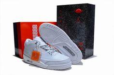 Nike Air Jordan 3 Men Sneakers White Grey Retro In Stock  http://www.czjordanshoes.com/cz2503.html