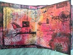 CreaBoetiek Creations: Tagalong Tuesday week 14 with a journal page and video tutorial; Apr 2015