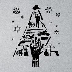 Walking Dead Christmas Tree Silhouette