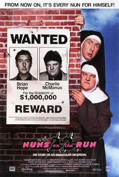 Eric Idle and Robbie Coltrane.. a funny film with an iconic image
