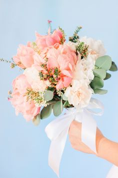 Simple Pink Peony Bouquet