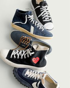November Style Guide sneak peek. Our Very Personal Stylist team can help you pre-order the unisex PLAY Comme des Garcons® for Converse high top before they become available on Wednesday 23 October. Call 800 261 7422 or email erica@jcrew.com.