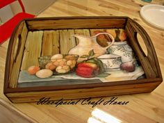 Hand made, wood painting