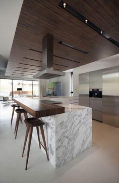 Beautiful Kitchen Designs, Best Kitchen Designs, Modern Kitchen Design, Beautiful Kitchens, Modern Bar, Best Interior Design, Interior Design Kitchen, Room Interior, Home Decor Kitchen