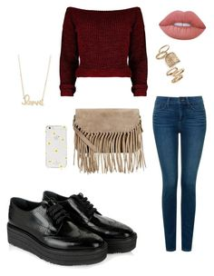 """Mila3"" by alicemarianaa on Polyvore featuring Prada, NYDJ, Kate Spade, Accessorize, Topshop, Sydney Evan and Lime Crime"