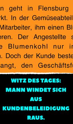 Witz des Tages: Mann windet sich aus Kundenbeleidigung raus Periodic Table, Humor, Relationship Jokes, Joke Of The Day, Deutsch, Crafting, Periodic Table Chart, Periotic Table, Humour