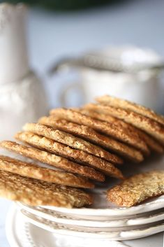 Almond, Diy Food, Cooking Recipes, Menu, Breakfast, Cookies, Sweet, Desserts, Pancakes