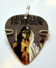 Bring Me The Horizon Guitar Pick Pendant by TwistedPicks on Etsy, $10.00