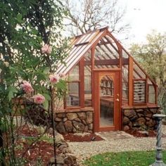 I am in love with this greenhouse.