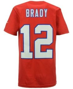 Nike Boys' Tom Brady New England Patriots Pride Name and Number T-Shirt - Red L