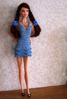 crochet outfit for Barbie size doll