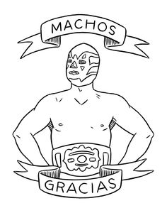 Lucha Libre card for The Found-- four designs instead of one, but I kinda love them all. Maybe a box set?