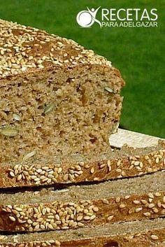 ¡Realiza en pocos pasos tu propio pan integral casero!#Light Pan Dulce, Pan Bread, Whole Grain Bread, Moist Cakes, Artisan Bread, Special Recipes, Sin Gluten, Healthy Desserts, Cooking Time
