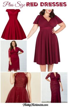 I've search high and low for fabulous plus size red dresses that are sure to wow! Whether you're looking for a fitted or flared dress, we got you covered!