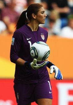 Hope Solo. she is so pretty!!
